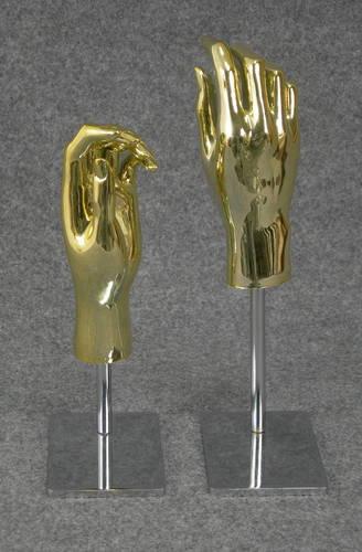 025 COPPIA MANI D BASE AU2 - Coppia di mani in PVC da donna AU seconda scelta