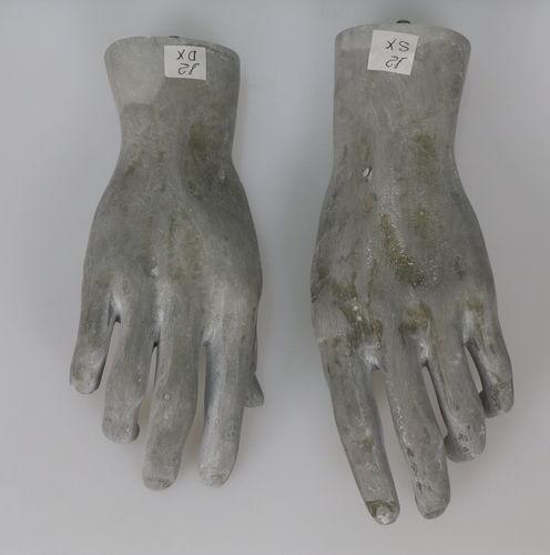 025 COPPIA MANI U 12RAW - Coppia di mani in fibra di vetro da uomo