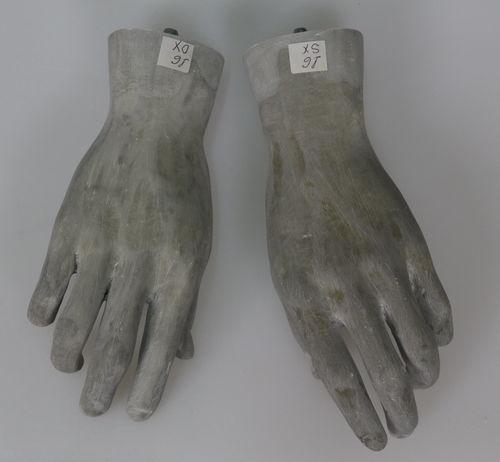 025 COPPIA MANI U 16RAW - Coppia di mani in fibra di vetro da uomo