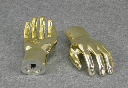 025 COPPIA MANI U AU - Coppia di mani in PVC da uomo