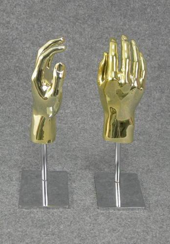 025 COPPIA MANI U BASE AU2 - Coppia di mani in PVC da uomo AU2