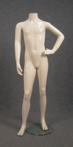 025 HB 55 AV - Manichino senza testa bambino-a in fibra di vetro avorio
