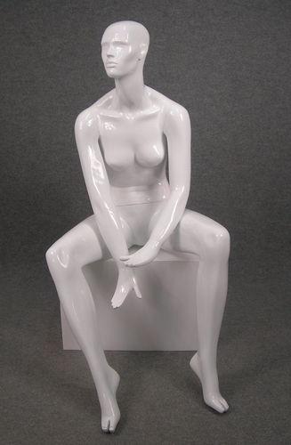 025 OMEGA 17 BI - Manichino seduto stilizzato donna viso scolpito