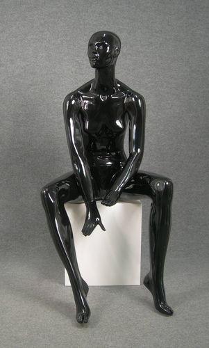 025 OMEGA 17 NE - Manichino seduto stilizzato per donna laccato lucido nero