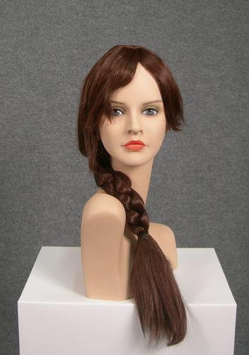 025 PARRUCCA TRECCIA LUNGA - Parrucca per manichino da donna
