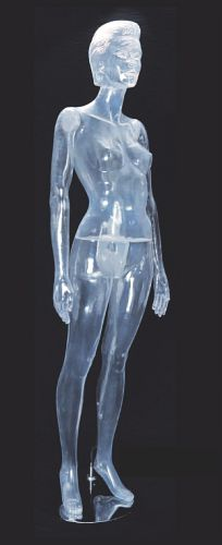 031 DONNA TRASPARENTE 213 - Manichino in plastica donna trasparente