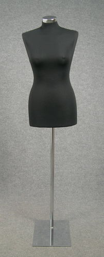 033 MANICHINO SARTORIA DONNA NE MET - Busto sartoria donna nero con base metallo tappo metallo