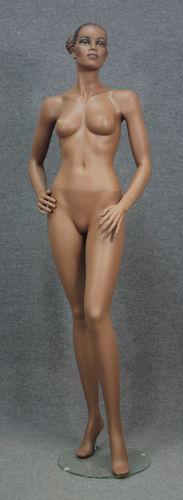 034 MANICHINO VIRGINS SC4 - Manichino usato realistico da donna pelle scura africano con make up.