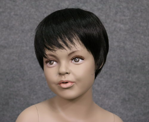 034 PARRUCCA 403 6 1B - Parrucca per manichino bambina marchio Window Mannequins