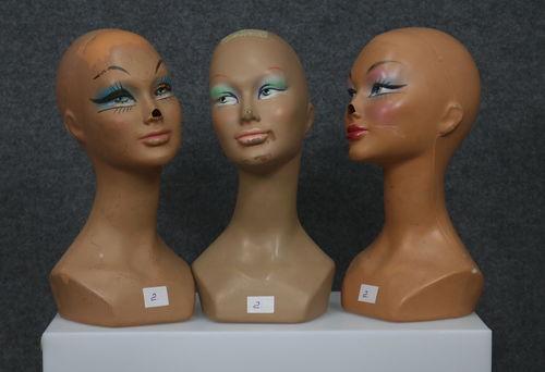 034 SET 3 TESTE 2D - Set di teste usate da donna