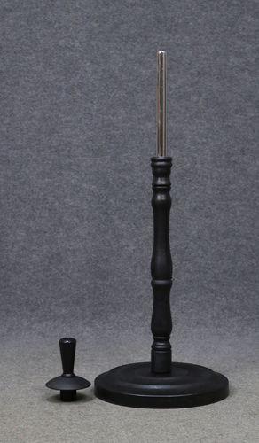 035 BASE 6 PLASTICA NERA - Base tonda da banco in plastica nera