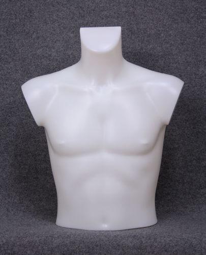 035 BUSTO 14U BI - Busto colore bianco da uomo in plastica con spalle