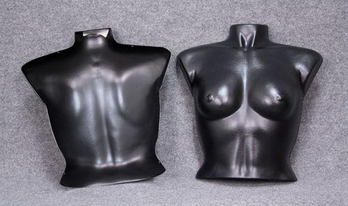 035 BUSTO NYC 2D - Busto colore nero da donna in plastica