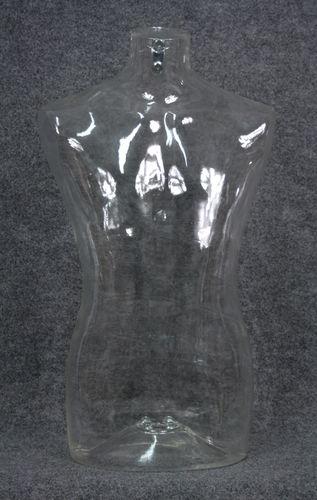 035 BUSTO SWING 2U TR - Busto trasparente da uomo in plastica con spalle