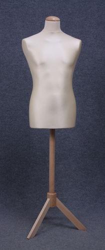 035 MANICHINO SARTORIA UOMO EC 3P2LE - Busto sartoria uomo con base a tre piedi in legno tappo liscio