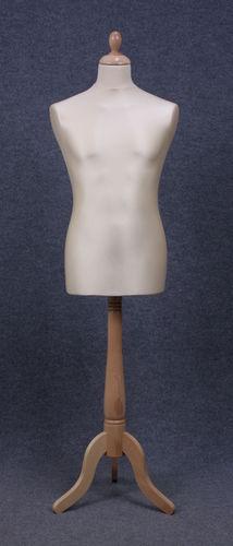 035 MANICHINO SARTORIA UOMO EC 3PLE - Busto sartoria uomo con base tre piedi in legno tappo pomello