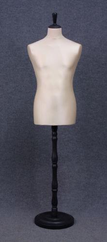 035 MANICHINO SARTORIA UOMO EC TO4PLNE - Busto sartoria uomo con base tonda in plastica tappo pomello