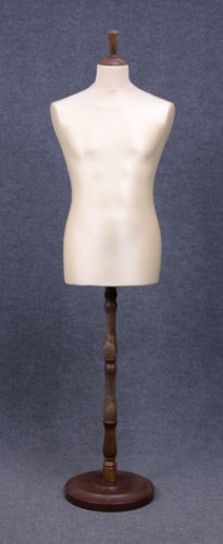 035 MANICHINO SARTORIA UOMO EC TO4PLNO - Busto sartoria uomo con base tonda in plastica tappo pomello