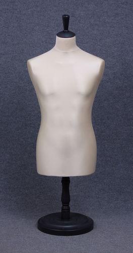 035 MANICHINO SARTORIA UOMO EC TO6PLNE - Busto sartoria uomo con base tonda in plastica tappo pomello