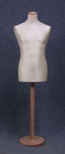 035 MANICHINO SARTORIA UOMO EC TOLE - Busto sartoria uomo con base tonda in legno tappo liscio