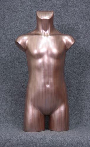 035 TORSO 10B BR - Torso colore bronzo con spalle in plastica da bambino