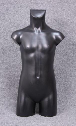 035 TORSO 10B NE - Torso colore nero con spalle in plastica da bambino