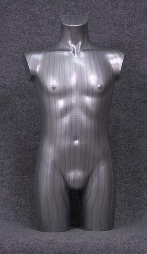 035 TORSO 12B SL - Torso colore silver con spalle in plastica da ragazzo