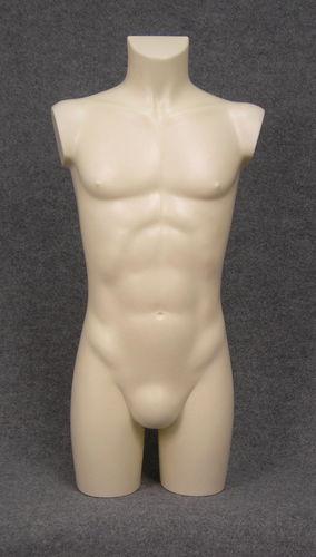 035 TORSO 27B AV - Torso colore avorio da ragazzo in plastica con spalle