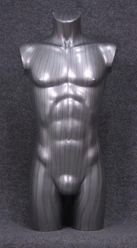 035 TORSO 27B SL - Torso colore silver da ragazzo in plastica con spalle