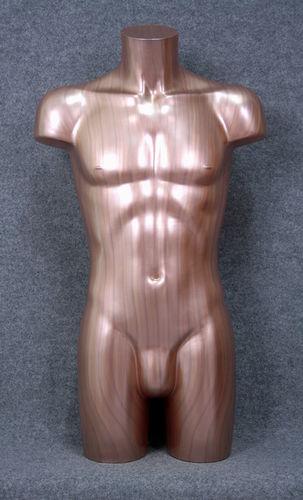 035 TORSO 2U C1 BR - Torso colore bronzo da uomo in plastica con spalle