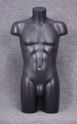 035 TORSO 2U C1 NE - Torso colore nero da uomo in plastica con spalle