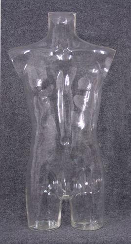 035 TORSO 2U C2 TR - Torso trasparente con spalle da uomo in plastica