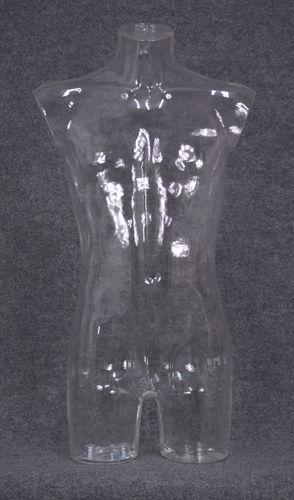 035 TORSO 2U C4 TR - Torso trasparente da uomo in plastica con spalle