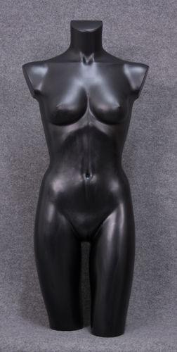 035 TORSO 7D NE - Torso colore nero da donna in plastica con spalle