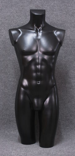 035 TORSO 8U C2 NE - Torso nero in plastica con spalle