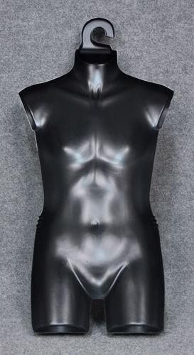035 TORSO NYC 7R - Torso da ragazza colore nero in plastica senza schiena