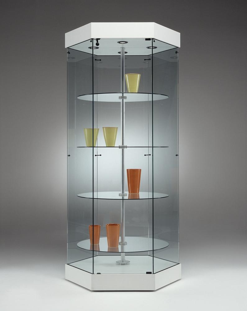 Foto g 0652 vetrina vetro girevole espositore arredamento for Vetrina in vetro