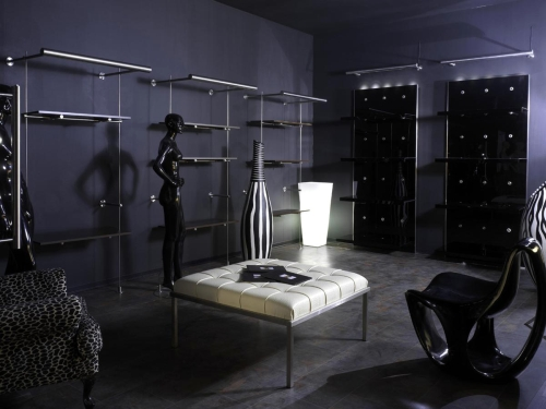 0133 arredamento negozi panca struttura vaso luminoso for Negozi arredamento on line