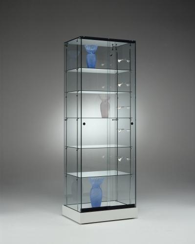 0506 vetrina ripiani vetro farretti for Vetrina in vetro