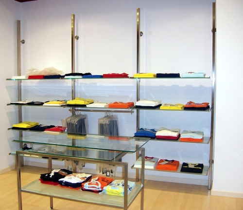 0535 arredamento negozi abbigliamento appendiabiti ripiani for Negozi arredamento on line
