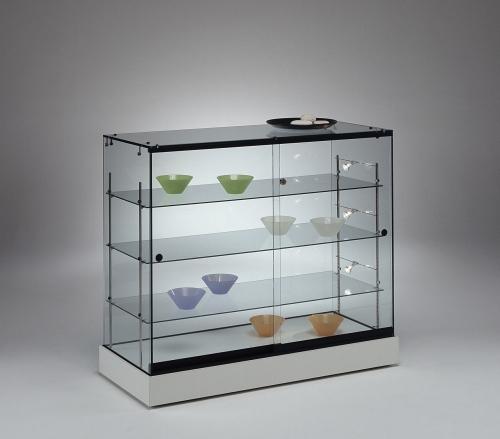 0644 espositore vetro ripiani vetrina faretti for Vetrina in vetro