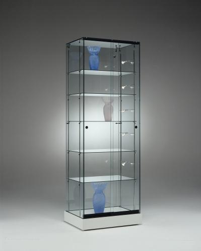 Foto(m): 0651 vetrina ripiani vetro faretti espositore