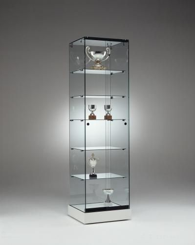 0653 vetrina ripiani vetro espositore arredamento negozi for Vetrina in vetro