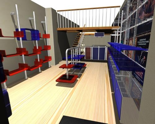 1126 rendering arredamento negozi for Arredamento md
