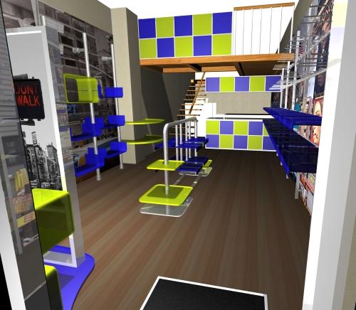 1128 negozi arredamento rendering for Negozi arredamento viareggio