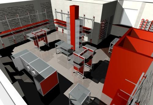 Foto m 1131 arredamento negozi rendering espositori for Rendering arredamento