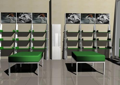 Foto m 1180 rendering arredamento negozi panca ripiani for Rendering arredamento