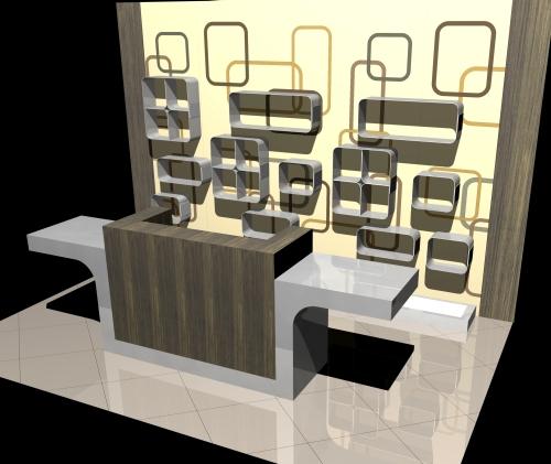 1183 arredamento negozi rendering banco vendita ripiani for Vendita on line arredamento
