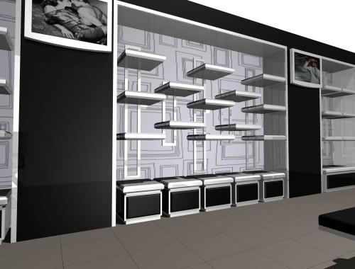 1188 arredamento ripiani espositori display for Rendering arredamento