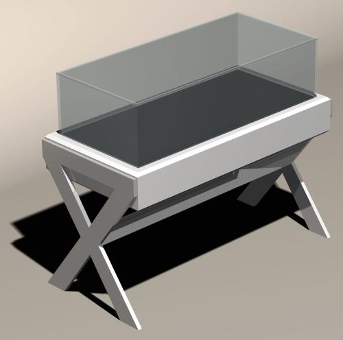 1217 arredamento negozi tavolino vetrina for Tavolino con vetrina